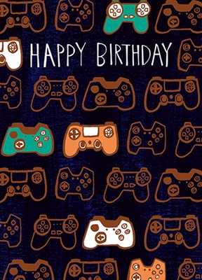 Gamer Happy Birthday Card