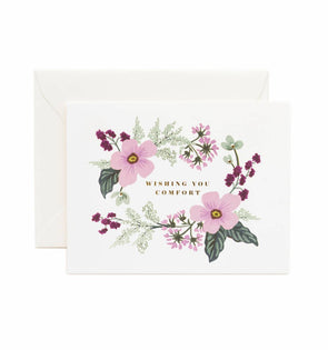 Rifle Paper Co. Wishing You Comfort Bouquet Card
