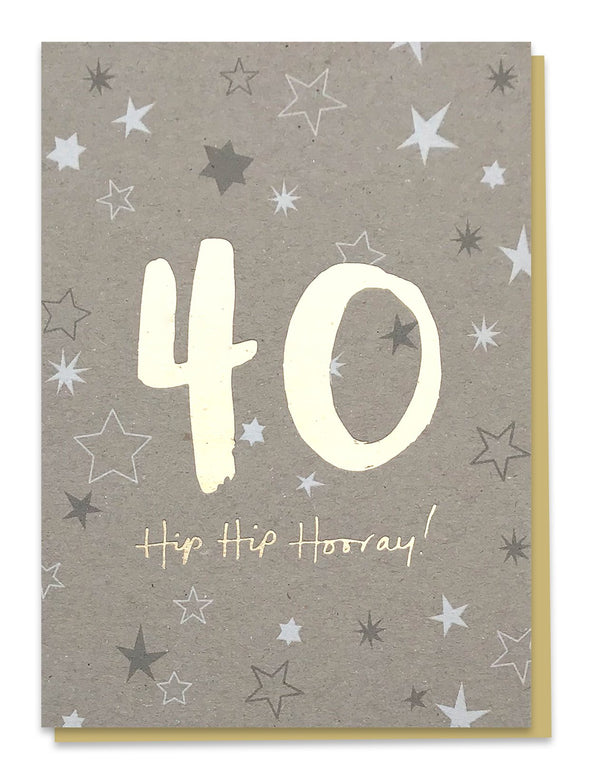 40 Hip Hip Hooray! Card