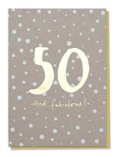 50 And Fabulous! Card