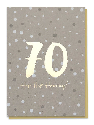 70 Hip Hip Hooray! Card