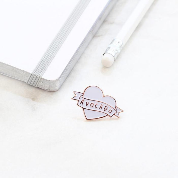 Love Avocado Enamel Pin Badge