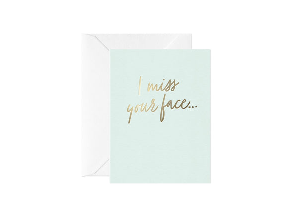 Mini I Miss Your Face... Card
