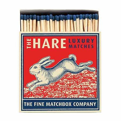 Hare Luxury Matches in Letterpress Printed Box