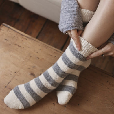 Alpaca Light Stripe Everyday Socks
