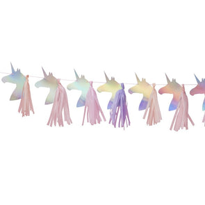 Iridescent Foiled Unicorn Tassel Garland