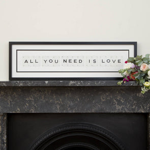 Vintage Playing Cards- 'All You Need Is Love' Frame