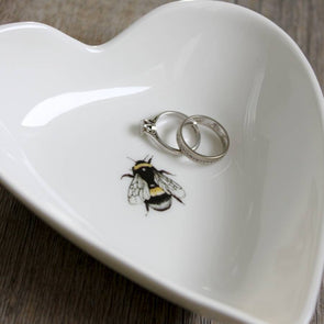 Tableware - Bone China Bee Heart Shaped Dish