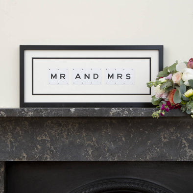 Vintage Playing Cards- 'Mr and Mrs' Frame
