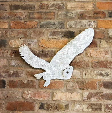Rustic Metal Flying Owl