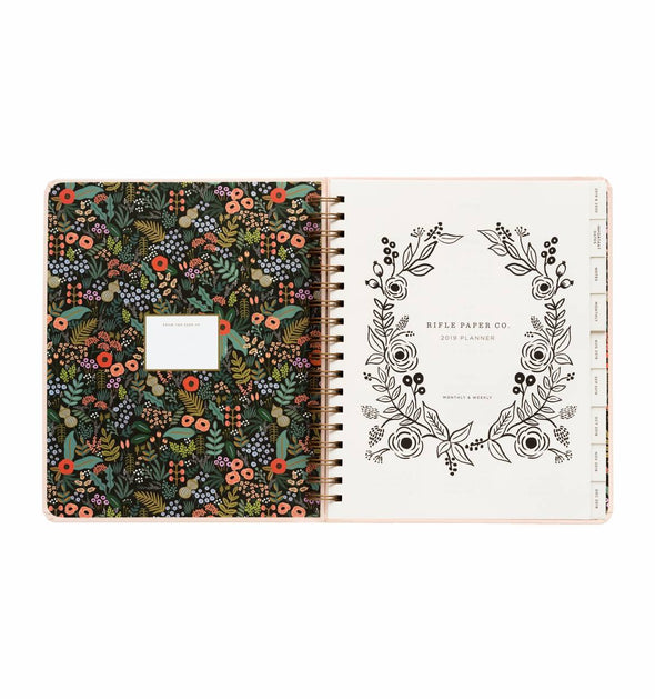 Rifle Paper Co. 2019 Bouquet 17 Month Spiral Bound Planner