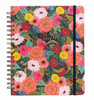 Rifle Paper Co. 2019 Juliet Rose 17 Month Spiral Bound Planner