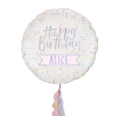 Personalised Iridescent Birthday Balloon