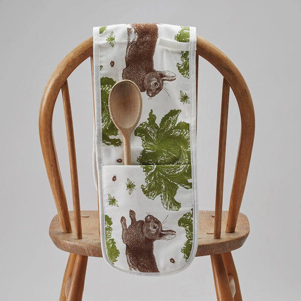 Rabbit & Cabbage Double Oven Gloves