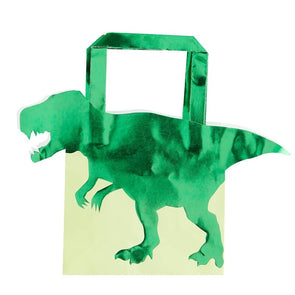 Green Foiled Dinosaur Party Bag