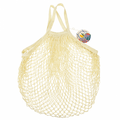 French Style String Shopping Bag Cream
