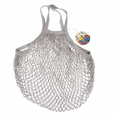 French Style String Shopping Bag Grey