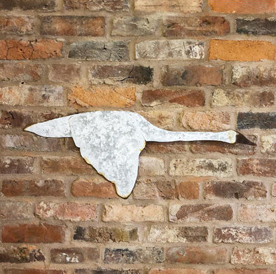 Rustic Metal Flying Swan Wall Art