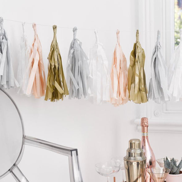 Blush Tassel Garland