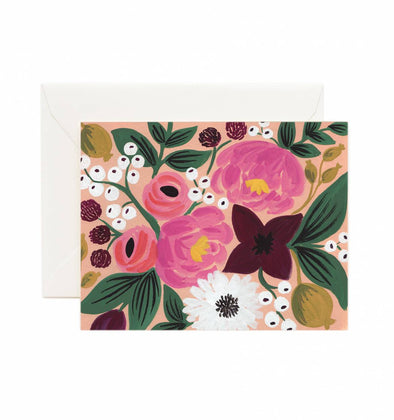 Rifle Paper Co. Peach Vintage Blossoms Card