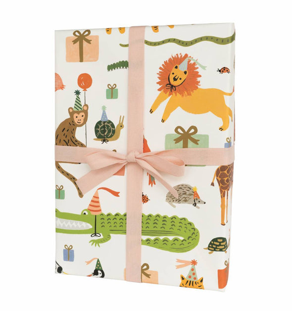 Rifle Paper Co. Set of 3 Wrap Sheets Party Animals