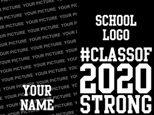 1 DOZEN Celebrate The Class of 2020 - Senior Yard Sign - 2 SIDED PRINT