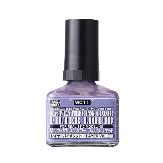 MR. WEATHERING COLOR WC11 FILTER LIQUID LAYER VIOLET 40ML