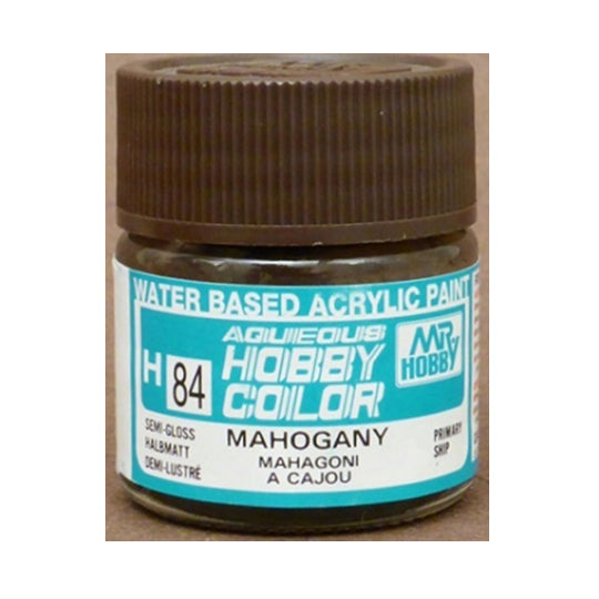 MR. HOBBY AQUEOUS COLOR H-084 (SEMI GLOSS MAHOGANY) 10ML