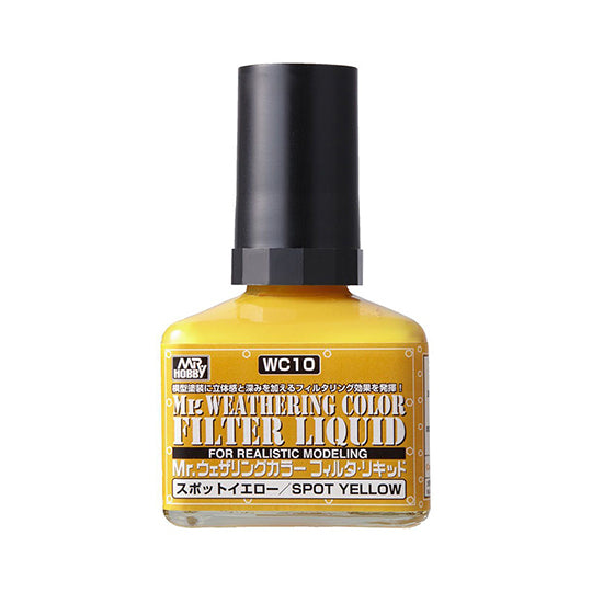 MR. WEATHERING COLOR WC10 FILTER LIQUID SPOT YELLOW 40ML