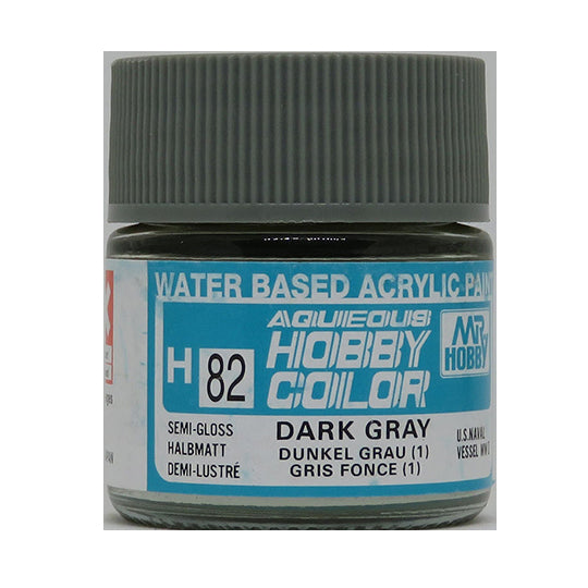 MR. HOBBY AQUEOUS COLOR H-082 (SEMI GLOSS DARK GRAY 1) 10ML