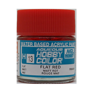 MR. HOBBY AQUEOUS COLOR H-013 (FLAT RED) 10ML