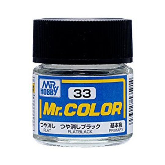 MR.COLOR 033 FLAT BLACK 10ML