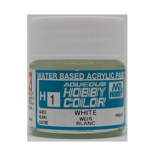 MR. HOBBY AQUEOUS COLOR H-001 (GLOSS WHITE) 10ML