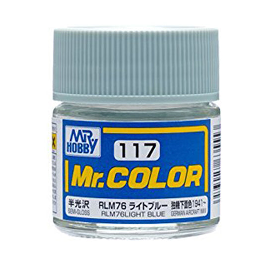 MR.COLOR 117 RLM76 LIGHT BLUE (SEMI GLOSS) 10ML