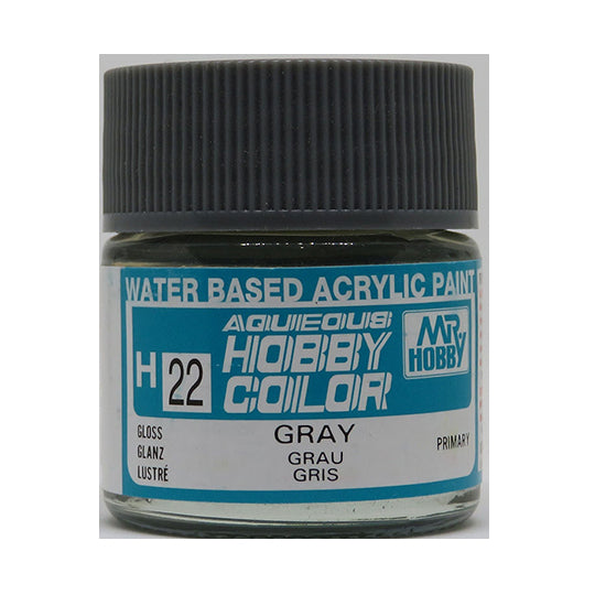 MR. HOBBY AQUEOUS COLOR H-022 (GLOSS GRAY (MOUSE) 10ML