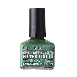 MR. WEATHERING COLOR WC12 FILTER LIQUID FACE GREEN 40ML