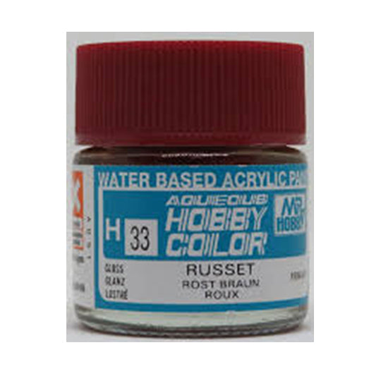MR. HOBBY AQUEOUS COLOR H-033 (GLOSS RUSSET) 10ML