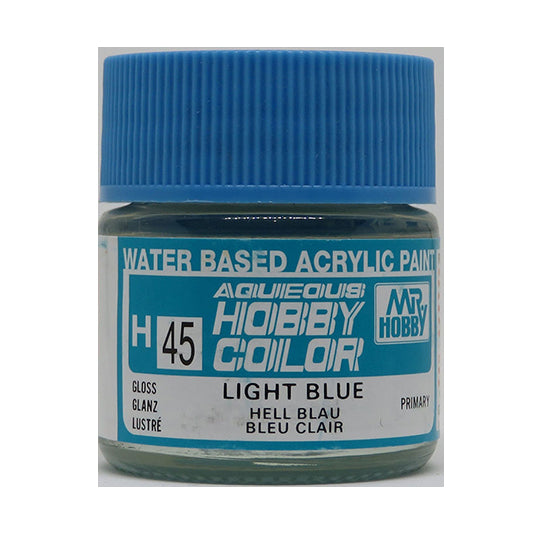 MR. HOBBY AQUEOUS COLOR H-045 (GLOSS LIGHT BLUE) 10ML
