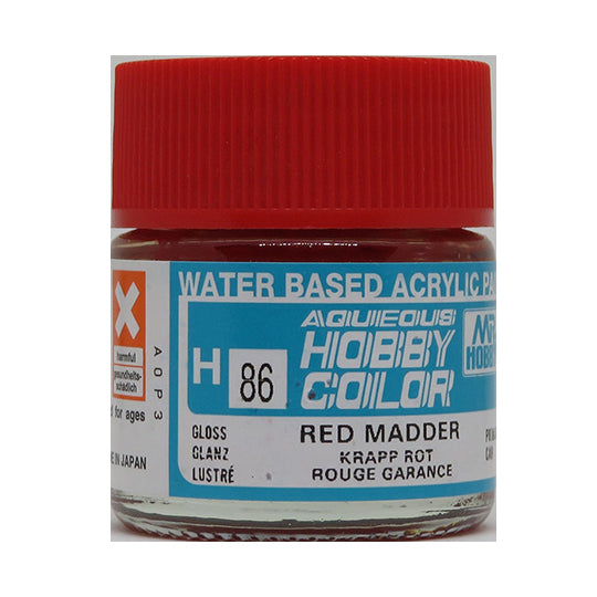 MR. HOBBY AQUEOUS COLOR H-086 (GLOSS RED MADDER) 10ML