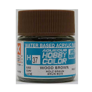 MR. HOBBY AQUEOUS COLOR H-037 (GLOSS WOOD BROWN) 10ML