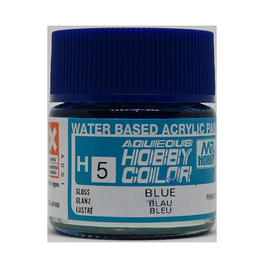 MR. HOBBY AQUEOUS COLOR H-005 (GLOSS BLUE) 10ML
