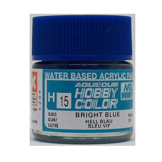 MR. HOBBY AQUEOUS COLOR H-015 (GLOSS BRIGHT BLUE) 10ML