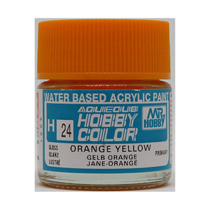 MR. HOBBY AQUEOUS COLOR H-024 (GLOSS ORANGE YELLOW) 10ML
