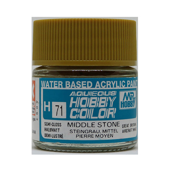MR. HOBBY AQUEOUS COLOR H-071 (SEMI GLOSS MIDDLE STONE) 10ML