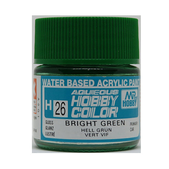 MR. HOBBY AQUEOUS COLOR H-026 (GLOSS BRIGHT GREEN) 10ML