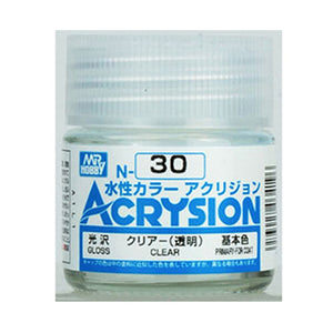 MR. HOBBY ACRYSION WATER BASED COLOR N-30 (GLOSS CLEAR) 10ml