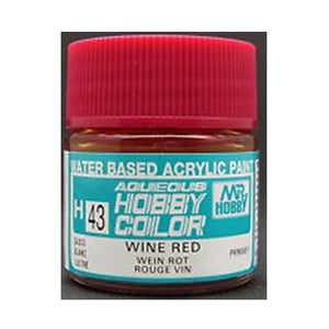 MR. HOBBY AQUEOUS COLOR H-043 (GLOSS WINE RED) 10ML