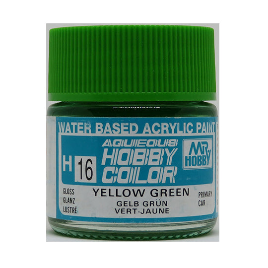 MR. HOBBY AQUEOUS COLOR H-016 (GLOSS YELLOW GREEN) 10ML