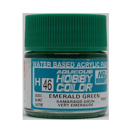 MR. HOBBY AQUEOUS COLOR H-046 (GLOSS EMERALD GREEN) 10ML