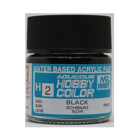 MR. HOBBY AQUEOUS COLOR H-002 (GLOSS BLACK) 10ML